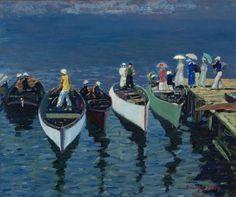 George Benjamin Luks:  Holiday on the Hudson (c.1912) via Cleveland Museum of Art