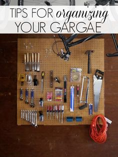 Tidy up a #cluttered #garage by following some of these great #tips!