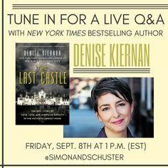 Tune in for a Facebook Live Q&A on Sep. 8 at 1PM. I'll be live, signing books and answering questions about #Biltmore the #GildedAge and my new #book, #TheLastCastle.