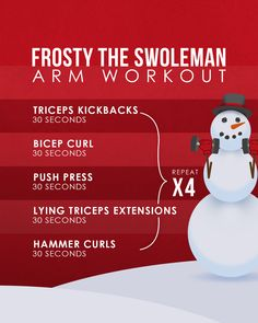 Frosty the Swoleman was a jolly, happy soul. With a protein shake and heavy weights, his arms were nice and swole. Hammer Curls, Heavy Weights, Happy Soul, Protein Shakes, Workouts, Arms, Nice, Fitness, Instagram