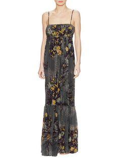 Floral Gathered Maxi Dress