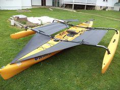 Amazon.com : Kayak Accessories Hobie Adventure island Kayak Trampoline & splash shield set Black : Sports & Outdoors
