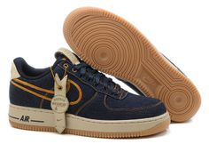 Jeans Blue Mens Nike Air Force 1 25th Low Shoes 51514
