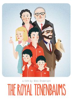 The Royal Tenenbaums (2001) ~ Alternative Movie Poster by Maria Suarez Inclan #amusementphile