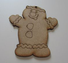 Christmas Ginger Bread Man Tree Decoration / Personalised Bauble