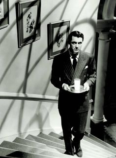 Cary Grant in Suspicion ~ Cut off the last 30 seconds and make it your own ending, and this movie would have been perfect.