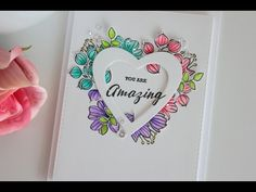 Valentine's card with Zig Clean Color Markers