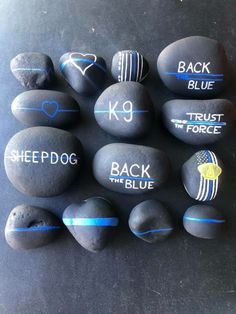Kids Police, Police Life, Stone Crafts, Rock Crafts, Ems Week, Police Crafts, Police Lives Matter, Rock Painting Designs, Training