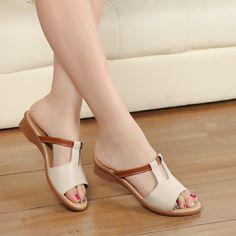 $19.00 (Buy here: https://alitems.com/g/1e8d114494ebda23ff8b16525dc3e8/?i=5&ulp=https%3A%2F%2Fwww.aliexpress.com%2Fitem%2F2016-Fashion-Women-Shoes-Genuine-Leather-Slippers-Female-Flat-Sandals-Casual-Slip-Resistant-Flat-Heel-Slip%2F32632012991.html ) 2016 Fashion Women Shoes Genuine Leather Slippers Female Flat Sandals Casual Slip-Resistant Flat Heel Slip-On Fretwork Cut-Outs for just $19.00