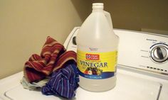 How to use distilled white vinegar in the laundry to whiten, brighten, reduce odor and soften clothes.