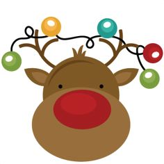 Freebie Of The Day! Reindeer With Lights - freebiereindeerwithlights111513 - Christmas - Miss Kate Cuttables   Product Categories Scrapbooki...