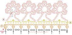 capa con borde de flores en crochet