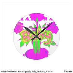#kids #Baby #Hakuna #Matata #Clock #funny #penguin #saying, #steal #my #sanity, #with #quote #Cute #Quotes #Clocks