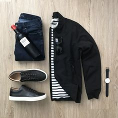 Urban Fashion, Daily Fashion, Mens Fashion, Business Casual Outfits For Work, Casual Wear, Men Casual, Stylish Mens Outfits, Gq Style, Outfit Grid