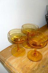 3 marigold dessert glasses - maybe more floating flowers