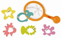 Sassy Counting Friends Bath Toy by Sassy. $25.99. From the Manufacturer                This Sassy Counting Friends n' Net Bath Toy is a fun fishing net that is easy for little hands to grasp. Your baby will delight in scooping up the characters into his fishing net. Numbered fish and friends also link together for more bath time fun.                                    Product Description                Sassy Inc. Counting Fish 'N Net Your child will scoop these floati...