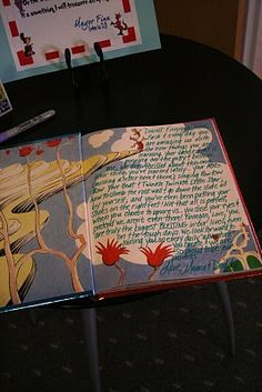 here's the book where guests can write their wishes, etc.-also check the menu