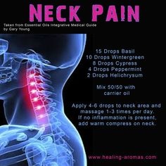 Neck pain by HealingLotus Aromatherapy