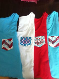 Monogram pocket tank tops by DP914DESIGNS on Etsy, $15.50