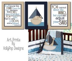 Nursery Wall Decor Baby Boy Room Art PrintsRow by HollyPopDesigns, $35.00