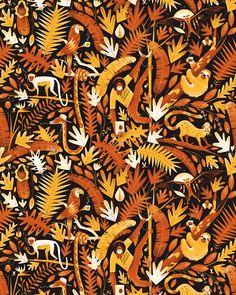 Pattern with coffee-inspired-paraphernalia motifs!