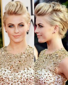 Julianne Hough's Edgy Bouffant – Celebrity Updo Hairstyle