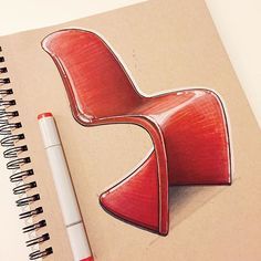 Friday Panton Chair. In 1967 Verner Panton and Vitra paired up to make this…