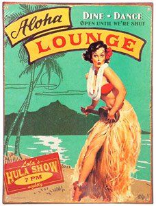 Travel Poster Vintage Hawaii New Ideas Rockabilly, Hawaiian Art, Vintage Hawaiian, Aloha Vintage, Hawaiian Punch, Pin Up, Hula, Rock And Roll, Tiki Art