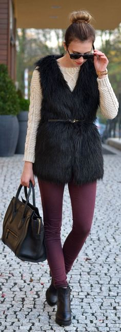 For These Cold Days by Vogue Haus => Love the Vest
