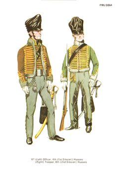 Ufficiale del 4 rgt. ussari (1 rgt. silesiano) e ussaro del 6 rgt. ussari (2 rgt. silesiano) al servizio della russia Prussia