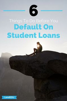 If you stop making payments on your student loans, they will go into default creating an even bigger problem. Default means that you have not made a required payment in a certain length of time. Once your loans have defaulted, the loan servicing company can sue you, garnish your wages, and take your tax return.  It is important that you prevent a default whenever one may be coming. Click through to see what you can do before you get close to defaulting.