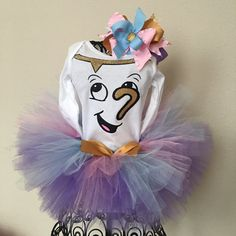 Beauty and the Beast Chip Tutu Costume by BowDezzleDesigns on Etsy