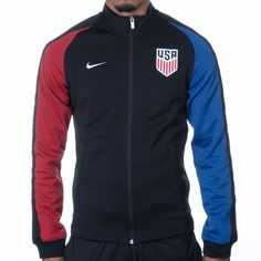 Men's Nike USA Auth N98 Track Jacket - Black - Click to enlarge
