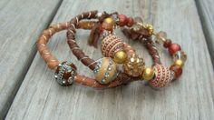 Hippie bohemian boho jewelry bracelets by madhattresscreations, $15.99