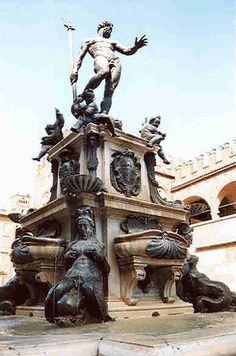 Famosas Fuentes del mundo - Fontana del Nettuno-Bologna-Francia.