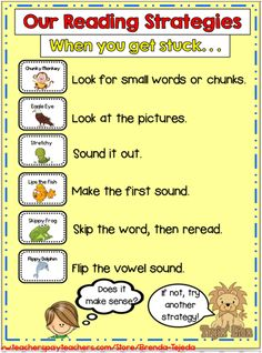 Decoding reading strategy bundle! Eagle Eye, Chunky Monkey and more to make decoding fun! Although this is a paid bundle, you can get the pieces to build this anchor chart for free in the preview. $