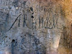 Graffiti from 1587 in the Tower of London, done by Philip Howard, Earl of Arundel. From Lisby1 on Flickr.
