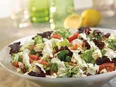 Creamy Blue Salad Dressing with Castello® Noble Blue Cheese #sidedish #bluecheese #recipe