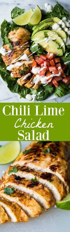 This tender, juicy, zesty chili lime chicken is perfect for topping your salad! This easy recipe takes just minutes to prepare! Perfect for a weeknight dinner!
