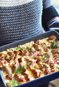 Polędwiczki wieprzowe w sosie grzybowo-cebulowym - etap 1 Pork Tenderloin Recipes, Pork Recipes, Cooking Recipes, Healthy Recipes, Big Meals, Pork Dishes, My Favorite Food, Food To Make, Sandwiches
