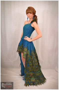 Peacock Feather Gown  Red Carpet Showpiece. by AnnoDominiDesigns, $2999.00