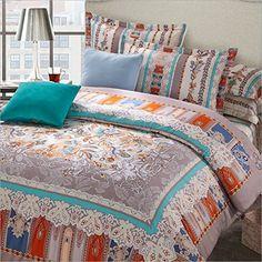LELVA Moroccan Bedding Sets Boho Duvet Cover Set Bohemian Style Bedding Set Queen King Size 4pcs (3, King) LELVA® http://www.amazon.com/dp/B0173JIH8C/ref=cm_sw_r_pi_dp_kliGwb1569RPE