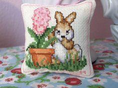 bunny cross stitch by PipStitch,