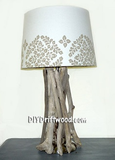 Step by Step Directions for Making a Driftwood Lamp - DIY Driftwood