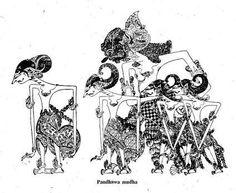 PANDHOWO LIMO...pandawa lima Shadow Puppets, Yogyakarta, Lima, Darth Vader, Culture, Floral, Painting, Abundance, Uni