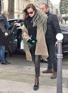 Fringe benefits:Ever the fashionista, the catwalk queen donned a figure-hugging velvet tu...