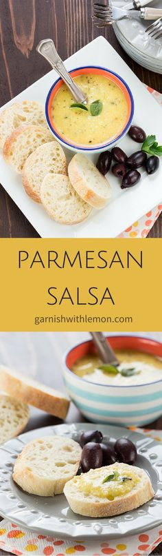 Parmesan Salsa is a fresh take on salsa that is guaranteed to disappear and have guests begging for the recipe. ~ http://www.garnishwithlemon.com