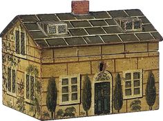 wunderhome: HOUSE FORM BOXES: Regency work box c.1820