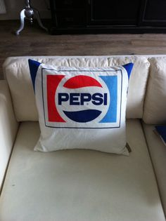 Pepsi parasol cushion with down