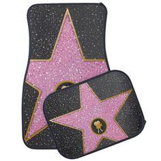 walk of fame movie star car floor mat